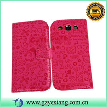 China Alibaba Leather Card Holder Case For Samsung Galaxy Win I8552 Cover