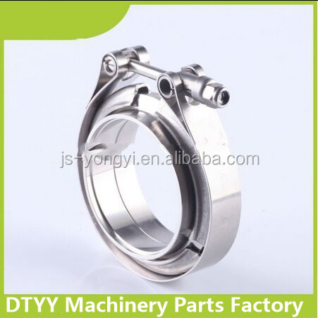 Manufacturer suppliy! Stainless Steel 2.5inch Auto Exhaust system O type V Band pipe clamp for cars turbo chargers