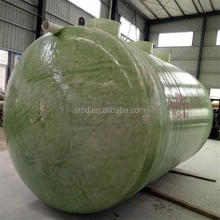 Large diameter grp plastic waste water treatment septic tank