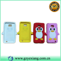3D cartoon silicon case for samsung galaxy mini s5570