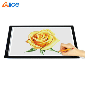 Art Portable Scale USB Acrylic LED Light Copyboard Tattoo Stencil Drawing Light Box A4 Ultra-thin Adjustable Tracing Tablet