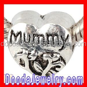 Wholesale DIY Silver Plated Mummy Heart Beads