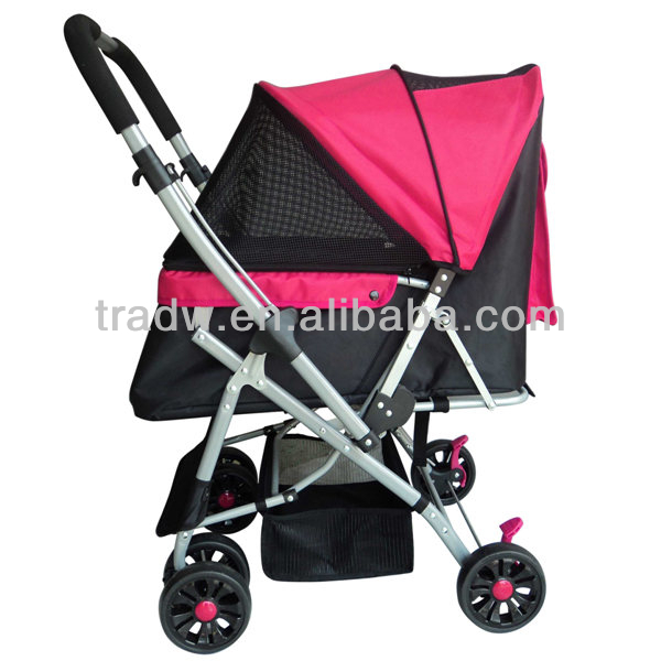 dog carriers/pet pushchair light weighted three wheel luxury pet stroller for dog&cat with sleeping cushion best sell