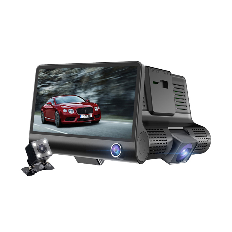 T319 Car Camera 4.0 inch Best Dash Cam 1080P Dual Lens with 170 degree wide angle Support Night Vision Fill Light Parkin car dvr