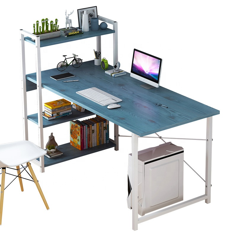 Computer Desk With Shelf Cube Storage Bookcase Workstation Laptop PC Table With Frame