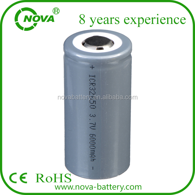 icr 32650 6000mah 3.7v li-ion battery