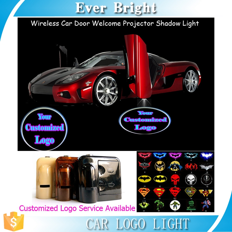 Wireless Sensor Car Door Welcome Laser Projector Ghost Shadow 3W logo Light