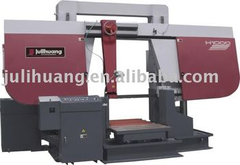 Horizontal gantry structure metal cutting band saw