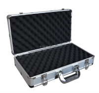 Sliver Aluminum Short Hand Gun Hard Locking Case