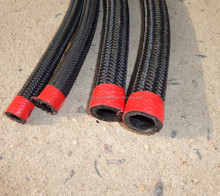 AN6 Stainless Nylon Braided Fuel Line Oil Gas Hose
