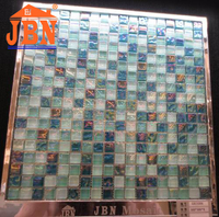 chip size good design for bathroom building material crystal glass mosaic tile
