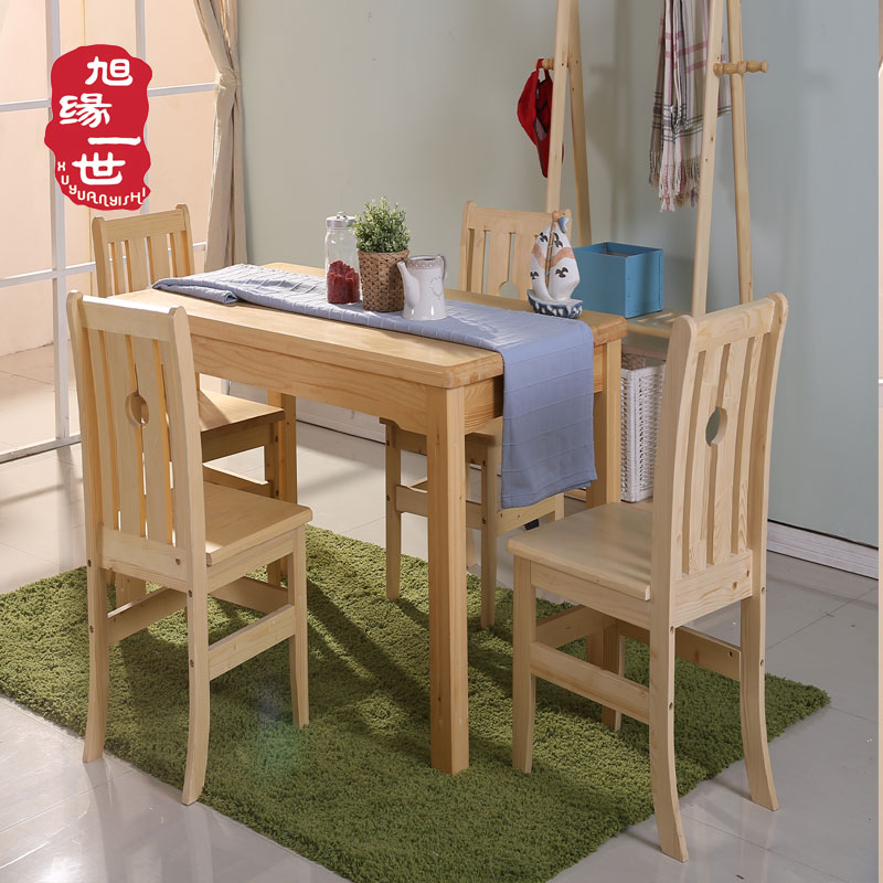 simple design solid wood heavy-duty school dining table and chairs