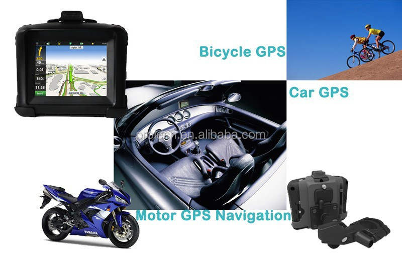 Wholesale Fashion 3.5inch touch screen motorcycle/car/bicycle gps navigator MT-3502B#P0007
