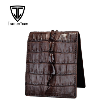 Luxury exotic genuine crocodile leather wallet men, real crocodile skin wallet men