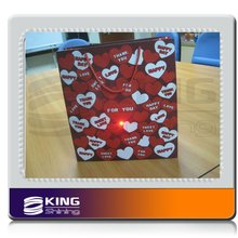 heart printing paper bag with high power LED