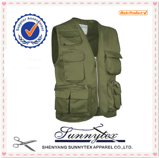 Custom Multi pocket photography man fishing vest