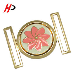 Custom designer sale bright clamp dressy alloy two joint ladies belt buckle