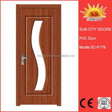 SC-P179 economy and practical laminated flush doors design with glass