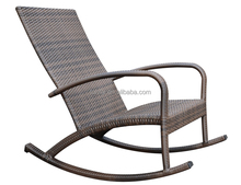 no rust aluminum single wicker lounge rocking chair
