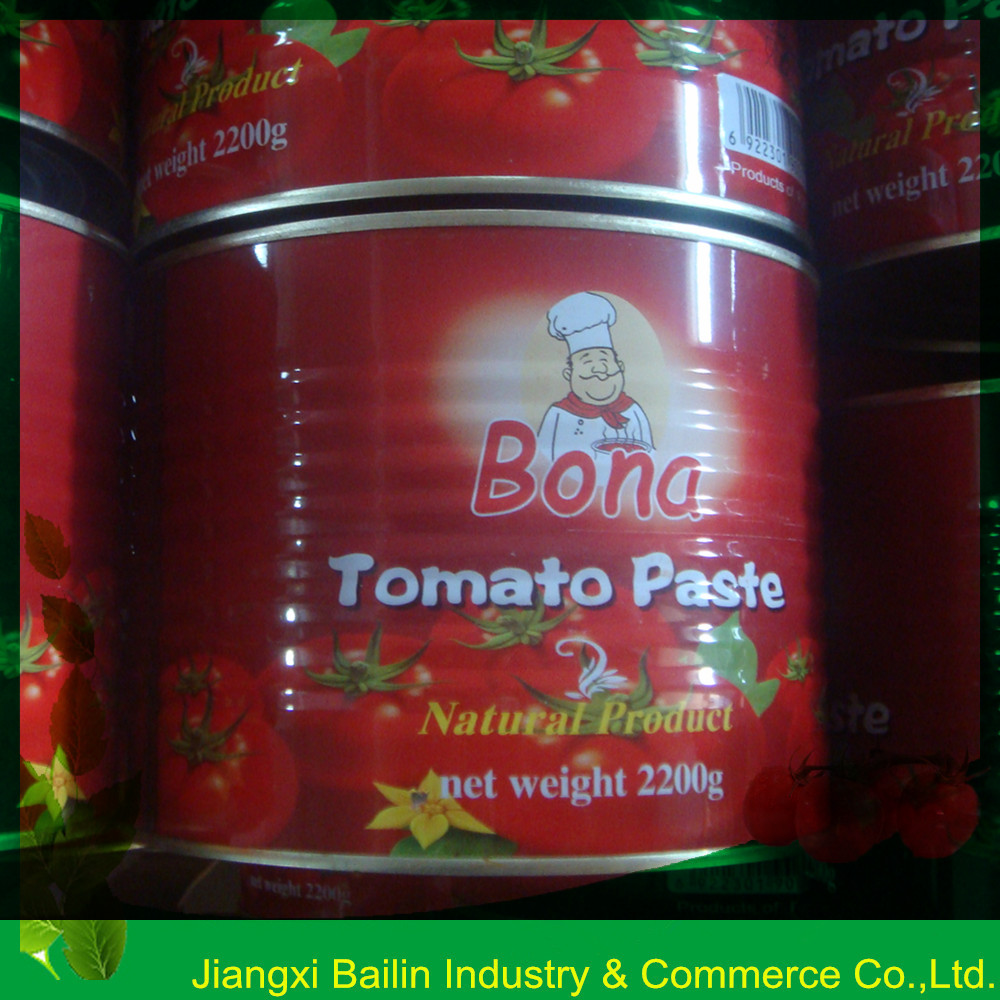Export to Pakistan,28-30% easy open lid 400g Tomato paste in tin can