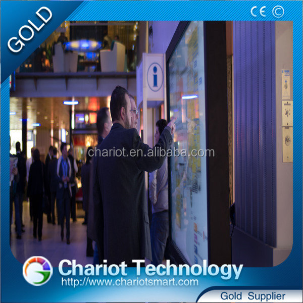 Chariot ir multi touch screen frame for window/touch screen photo frame display