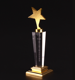Wholesale Hot Selling Crystal Trophy Star Trophy Award in Pujiang