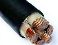 4+1 cores, PVC/XLPE insulated 150mm2 Aluminum/Copper tape Low voltage power cable for construction