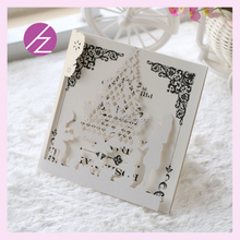 Save 20% DIY words and customed Family party time with Christmas Tree design laser cut unique hollow Wedding Invitation Card