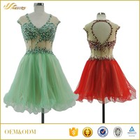 New arrival ODM sevice beautiful beaded sexy fashion girls short frocks dress