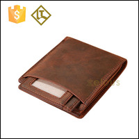 Vintage men wallet branded goods two pcs card holder wallet bifold genuine leather purse