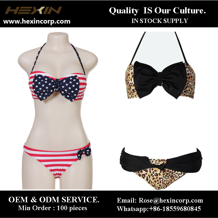 Wholesale women's sexy triangle bandeau japanese swimwear