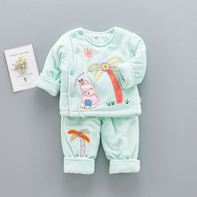 S61290B Baby wholesale clothes/baby winter long sleeve cotton suit