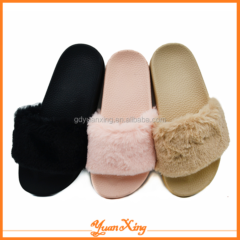 Fashion Plastic Shoes Plush Women Slipper New Slide Slippers