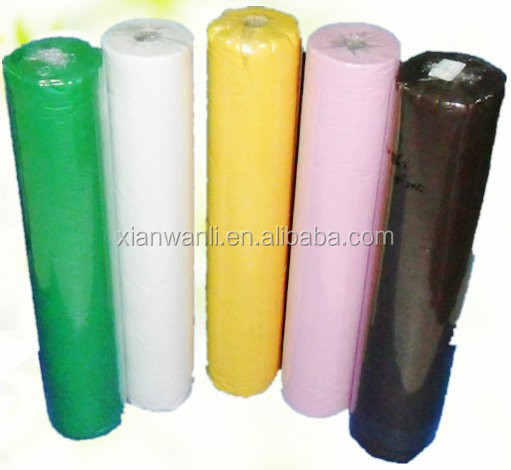 50pcs/roll PP nonwoven disposable hospital medical bed sheet roll