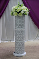 wedding mandap matka pillar decoration/white fiber wedding mandap decoration/white background wedding hall decoration
