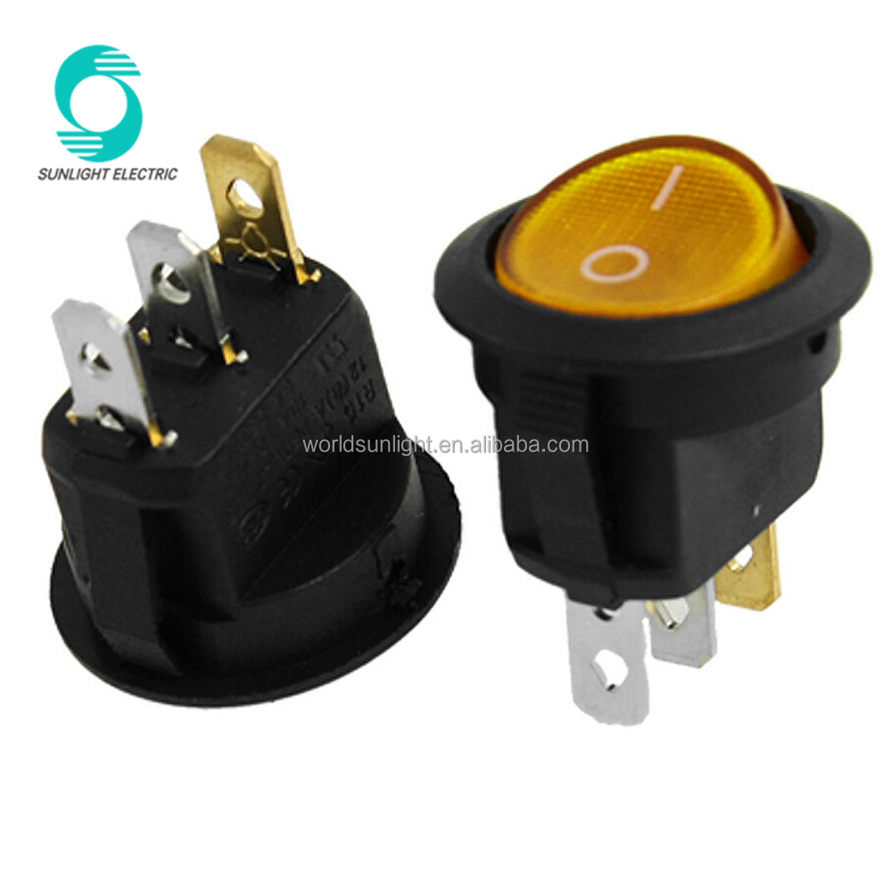 Wholesale Rocker Switch Lights Online Buy Best Spst 125vac Wiring Diagram Mounting Hole 23mm X 195mm 6a 250vac 10a Yellow Stronglight