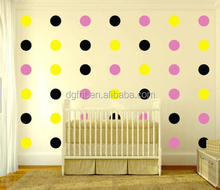 wholesale kids room diy decoration mordern waterproof self-adhesive wallpaper gold polka dot design removable vinyl wall sticker