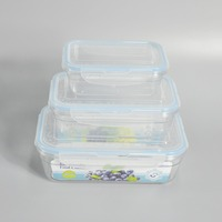 3 pieces microwave plastic insulated food container to keep food warm