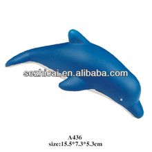 Customized pu foam dolphin shape anti stress ball,PU dolphin squeeze toys