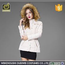 Factory Supply attractive style vogue women's long cotton-padded coat