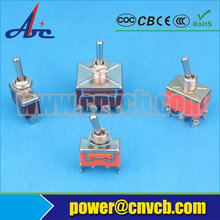 3A 110V ON-ON SPST Solder Terminal Copper Contact 4PIN Orange Color Auto Carling Mini Toggle Switch