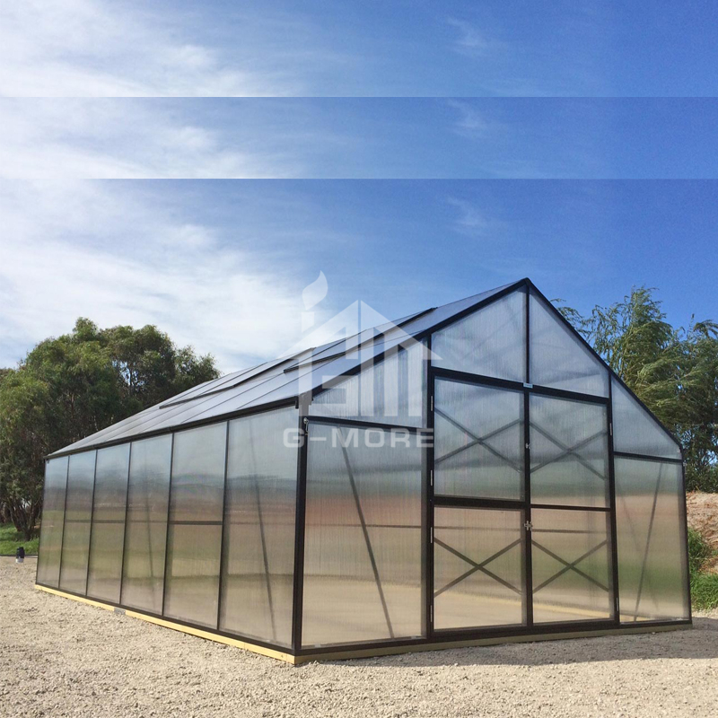 G-MORE Titan/Grange Series, 4M Width/6M Length, High Quality 4 Seasons Aluminum/10MM Polycarbonate Grange Green house(GM32406-G)