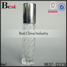 small capacity excellent material cheap 6ml glass sample perfume bottle spray with aluminum cap