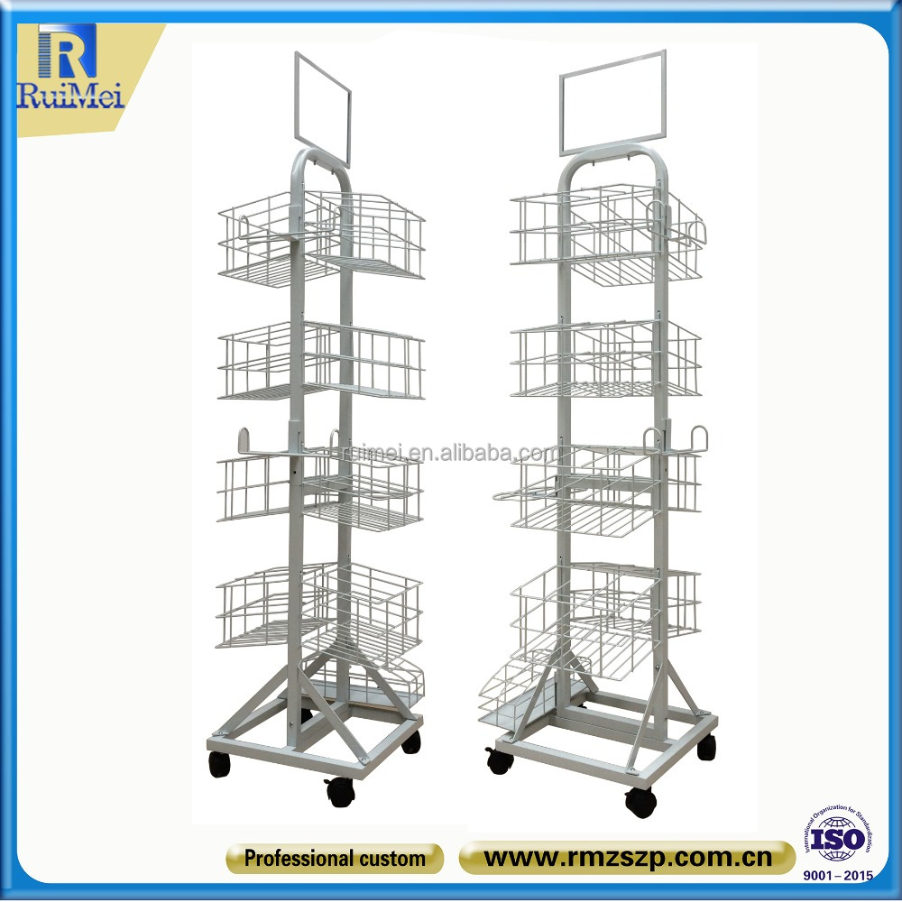 Floor Stand Moveable Metal Hanging Display Stand For Retail Umbrella