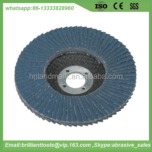 wood grinding T27 100mm ZA flap sanding disc for stainless steel
