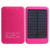 Hot sale 5000mah portable solar mobile phone charger, solar mobile charger