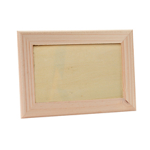 Wholesale idea gift DIY unfinished wood picture frame