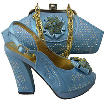 SB418 skyblue color EUR size 38/39/40/41/42 message us which size you want dress shoes and matching bags