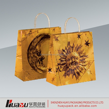 Shopping Carrier with Custom Printing and Rope Handle Luxury Gift Paper Bag led christmas light