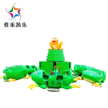 theme park equipment factory price family rides kids lovely frog bounce rides for sale
